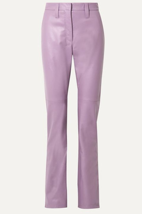 miu miu leather trousers, best leather trousers