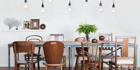 Claves de decoración Mix & Match - Comedor: mezcla de sillas y mesas