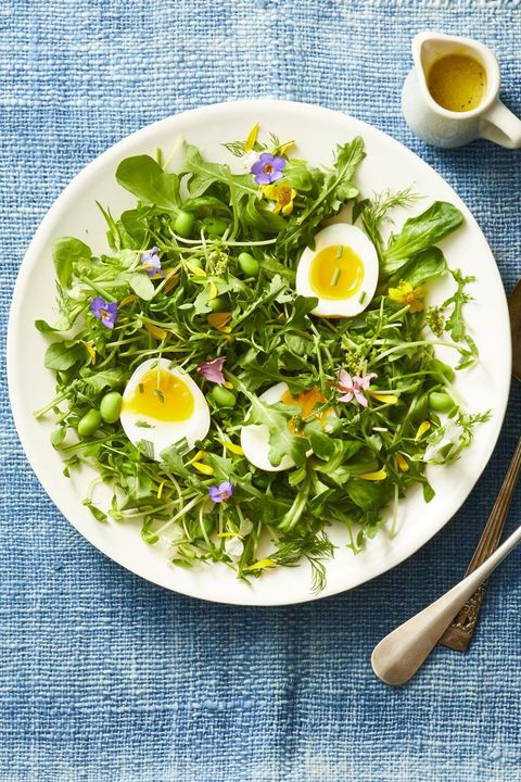 Mixed Green and Herb Toss Salad - Side Dishes for Ham