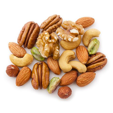 cashews almonds pecans walnuts and pistachios