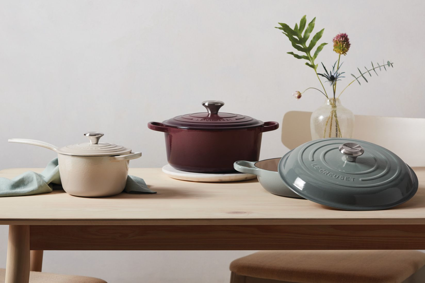 Le Creuset Launched Three New Colors, And We Can't Decide Which One We Love Most