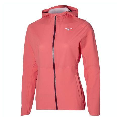 mizuno waterproof 20k er jacket hardloopjack roze waterdicht hardlopen hardloopkleding jas