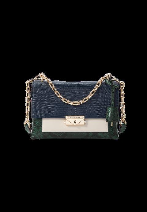 Handbag, Bag, Fashion accessory, Shoulder bag, Leather, Chain, Beige, Rectangle, Satchel,
