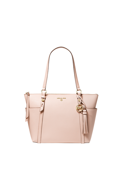 Handbag, Bag, Shoulder bag, Fashion accessory, Beige, Tote bag, Yellow, Leather, Material property, Luggage and bags,