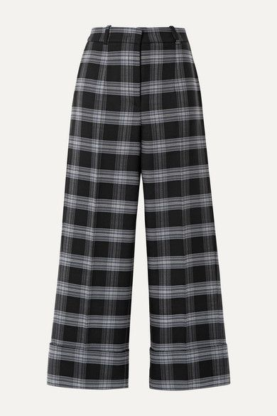 checked trousers women