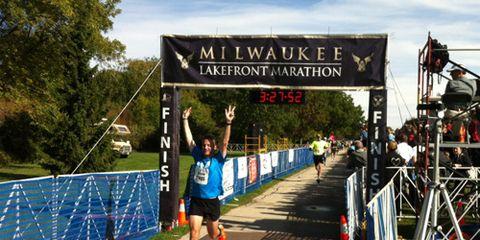 Milwaukee Marathon Finish Line