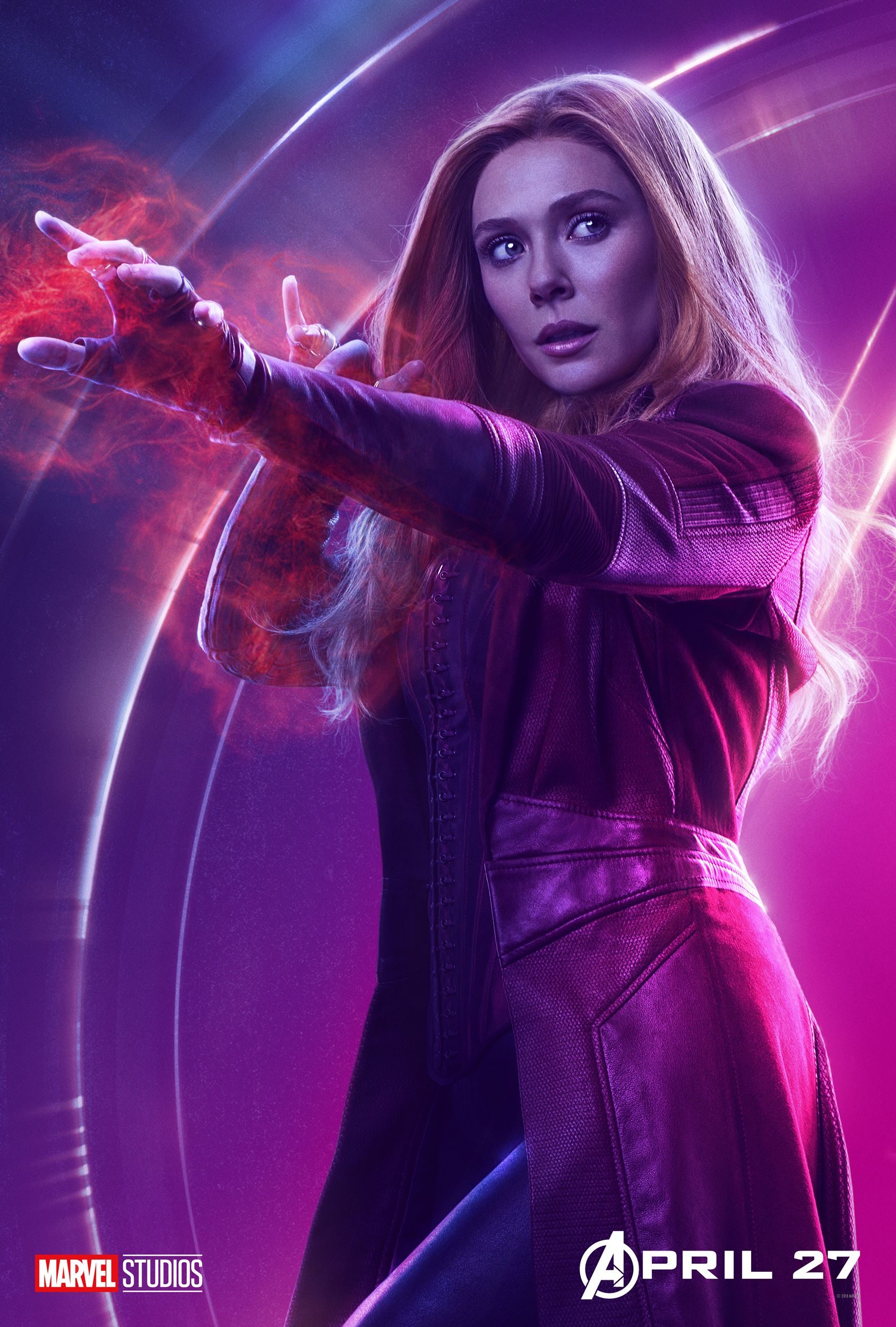 Elizabeth Olsen as Scarlet Witch in Avengers Infinity War