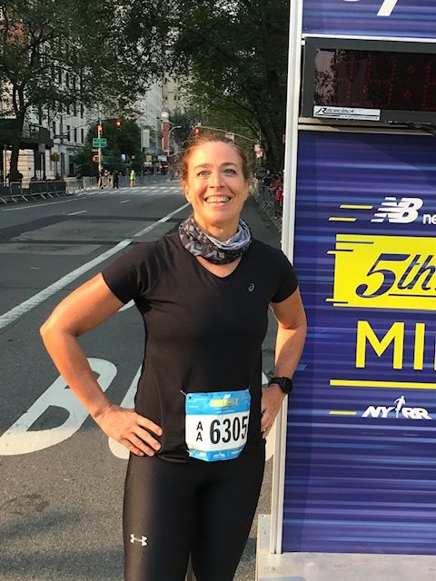 the author after running the 5th avenue mile