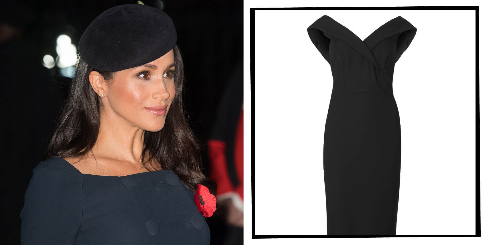 d9b0d5048ab Meghan Markle Wore A Marks   Spencer Dress For Under £50 For A Remembrance  Weekend Event