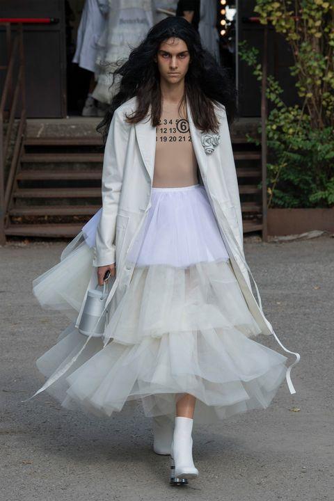 White, Clothing, Dress, Fashion, Snapshot, Pink, Outerwear, Wedding dress, Haute couture, Street fashion,