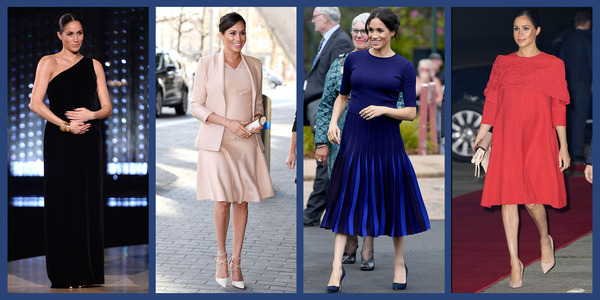 d826ea6afdf Why Meghan Markle Rarely Wears Maternity Clothes - Meghan Markle Wearing  Hatch Collection