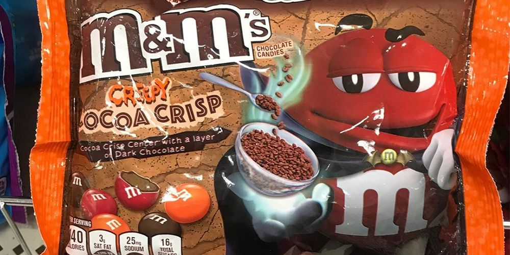 M&M's New Creepy Cocoa Crisp Flavor Is Already Being Spotted On Shelves For Halloween