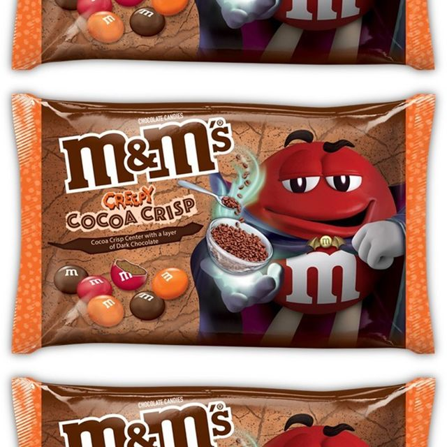 mm's creepy cocoa crisp halloween candy