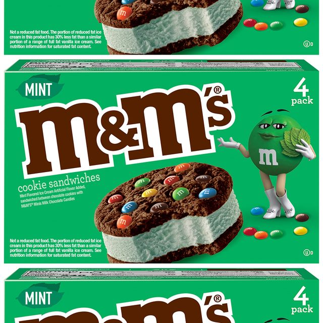 mars wrigley m and m's mint ice cream cookie sandwiches