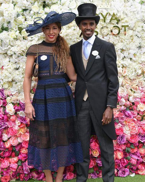 Mo Farah and wife Royal Ascot