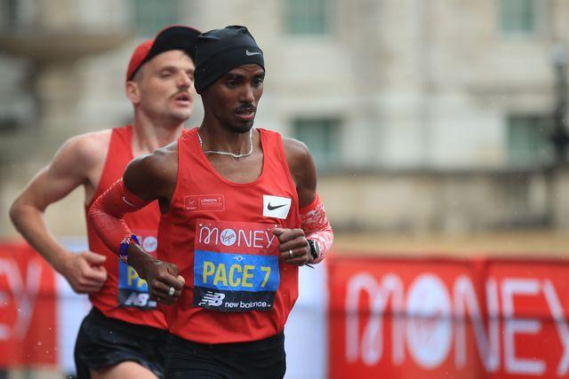 mo farah corre como liebre la maratón de londres 2020