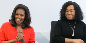 Former First Lady Michelle Obama and Shonda Rhimes