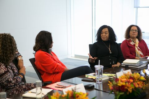 "Shonda Rhimes and Michelle Obama discuss ""Becoming."""
