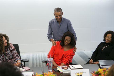 "Barack Obama, Michelle Obama, and Shonda Rhimes discuss ""Becoming"""