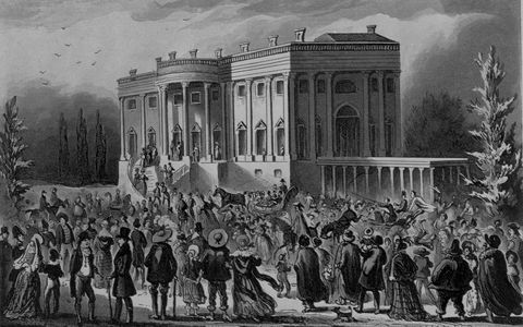 president's levee, or, all creation going to the white house by robert cruikshank