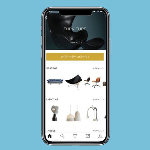 Mejores App de diseño de interiores: Aplicación 1stdibs