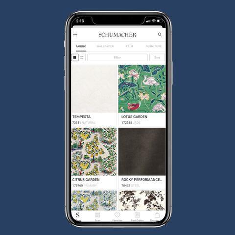 Mejores App de diseño de interiores: aplicación Schumacher