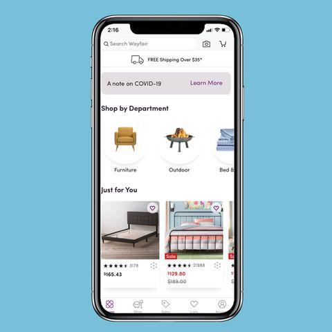 Mejores App de diseño de interiores: aplicación wayfair