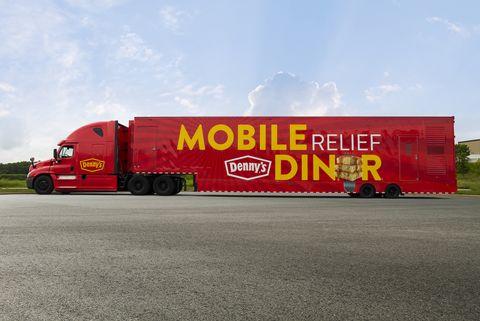 Transport, Mode of transport, Vehicle, Red, Trailer, Commercial vehicle, trailer truck, Truck, Asphalt, Car,