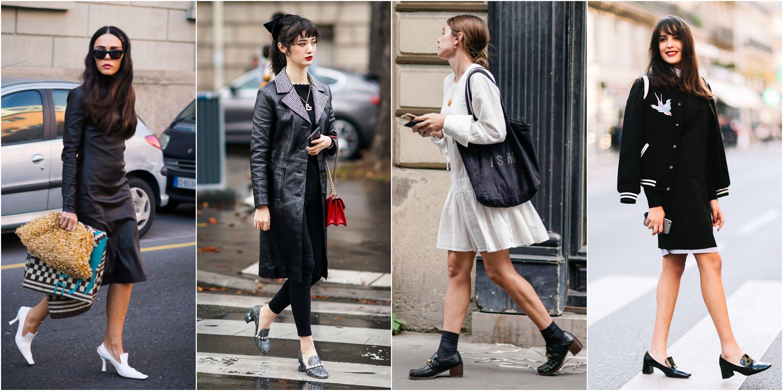 Mocasines con tacón, la opción más elegante del clásico zapato que arrasa este otoño