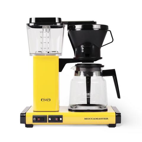 Small appliance, Coffeemaker, Home appliance, Kitchen appliance, Espresso machine, Drip coffee maker, Yellow, Machine, Coffee grinder, Juicer,