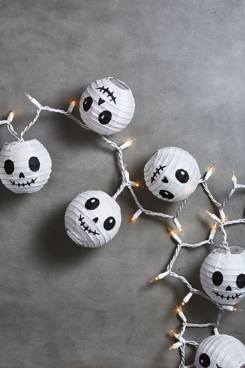 mod podge skellington lanterns