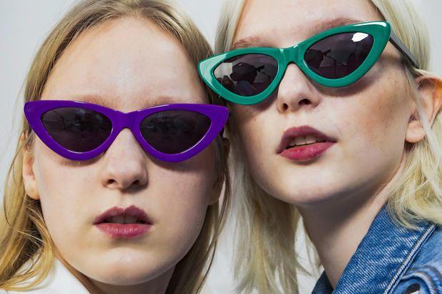 occhiali da sole Occhiali da sole di moda retrò / uomini e donne modelle occhiali da sole ( Colore : 5 ) CFiFs47