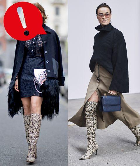 La moda primavera estate 2019 vede la diffusione della stampa pitone ovunque: la moda pitonata si declina su tutto il guardaroba borse e scarpe incluse, ecco cosa devi e non devi fare per evitare il Fashion Disaster.