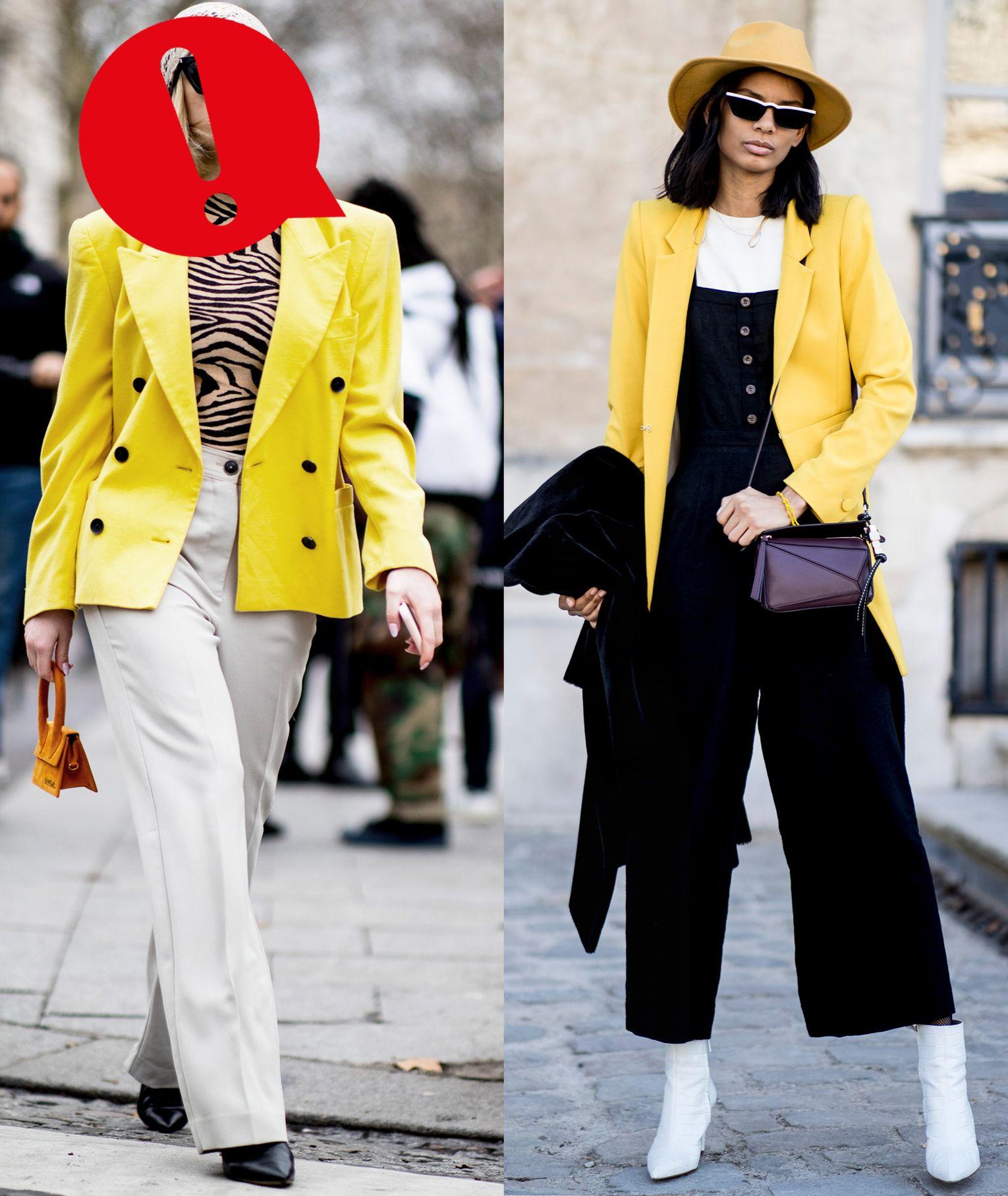 La moda primavera estate 2019 inserisce nelle tendenze l'uso smodato del colore giallo, una tonalità sì luminosa ma anche rischiosa se mal abbinata con altri colori o, peggio, con il colore della pelle.
