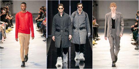 Fashion model, Fashion, Clothing, Footwear, Runway, Outerwear, Fur, Human, Fashion design, Street fashion,
