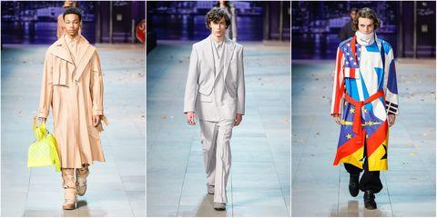Fashion model, Fashion, Clothing, Fashion design, Street fashion, Outerwear, Runway, Fashion show, Footwear, Human,