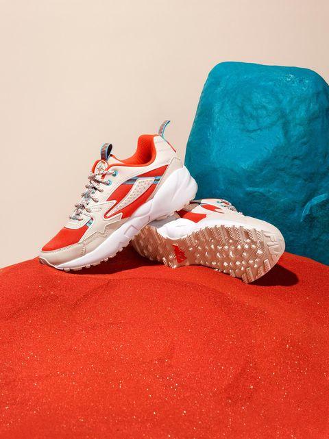Footwear, Red, Shoe, Blue, Turquoise, Carmine, Outdoor shoe, Athletic shoe, Sneakers,