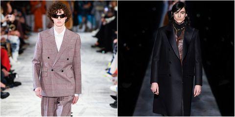 Clothing, Fashion model, Suit, Fashion, Outerwear, Blazer, Formal wear, Street fashion, Coat, Overcoat,