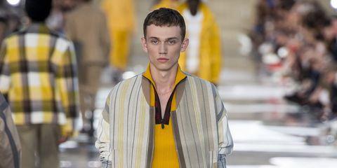 Yellow, Fashion, Street fashion, Outerwear, Temple, Fashion model,