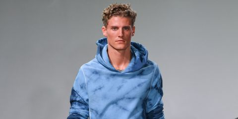 Blue, Neck, Outerwear, Fashion, Cheek, Hoodie, Human, Hood, Shoulder, Sleeve,