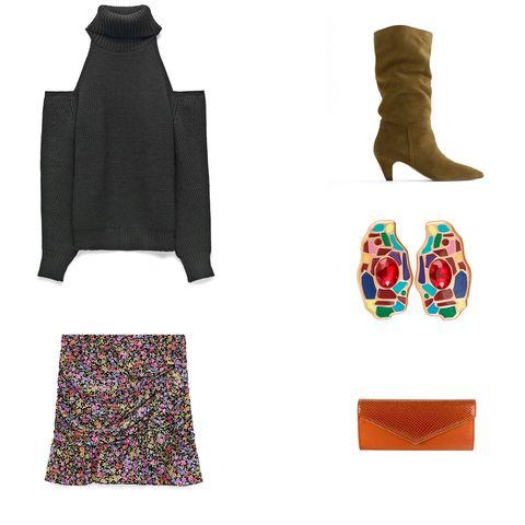 moda para navidad con minifalda