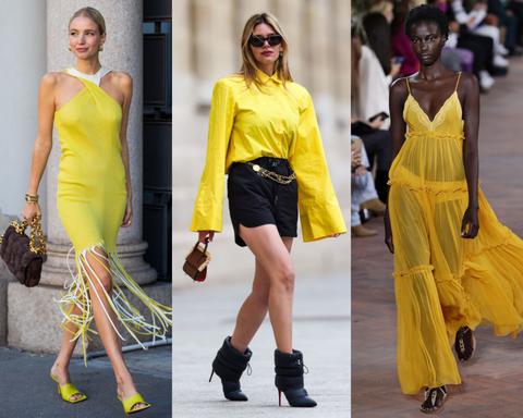 bright yellow is een van de modekleuren zomer 2021