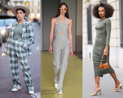groengrijs is een van de modekleuren zomer 2021