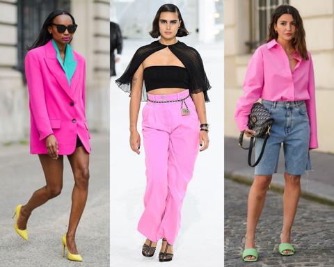 hot pink is een van de modekleuren zomer 2021