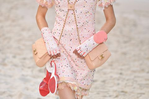 Clothing, White, Pink, Peach, Sleeve, Waist, Dress, Fashion, Joint, Footwear,
