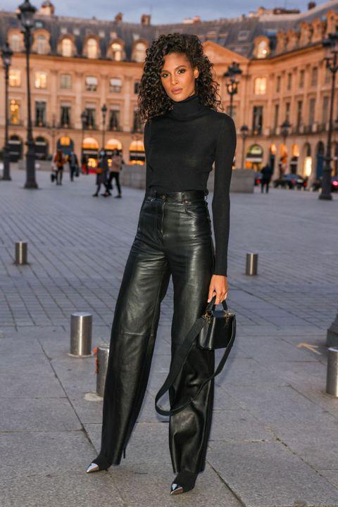 celebrity sighting at paris fashion week   womenswear spring summer 2021  day one