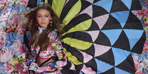 6a774517af95e Gigi Hadid Wears Parachute Wings at Victoria's Secret Fashion Show 2018