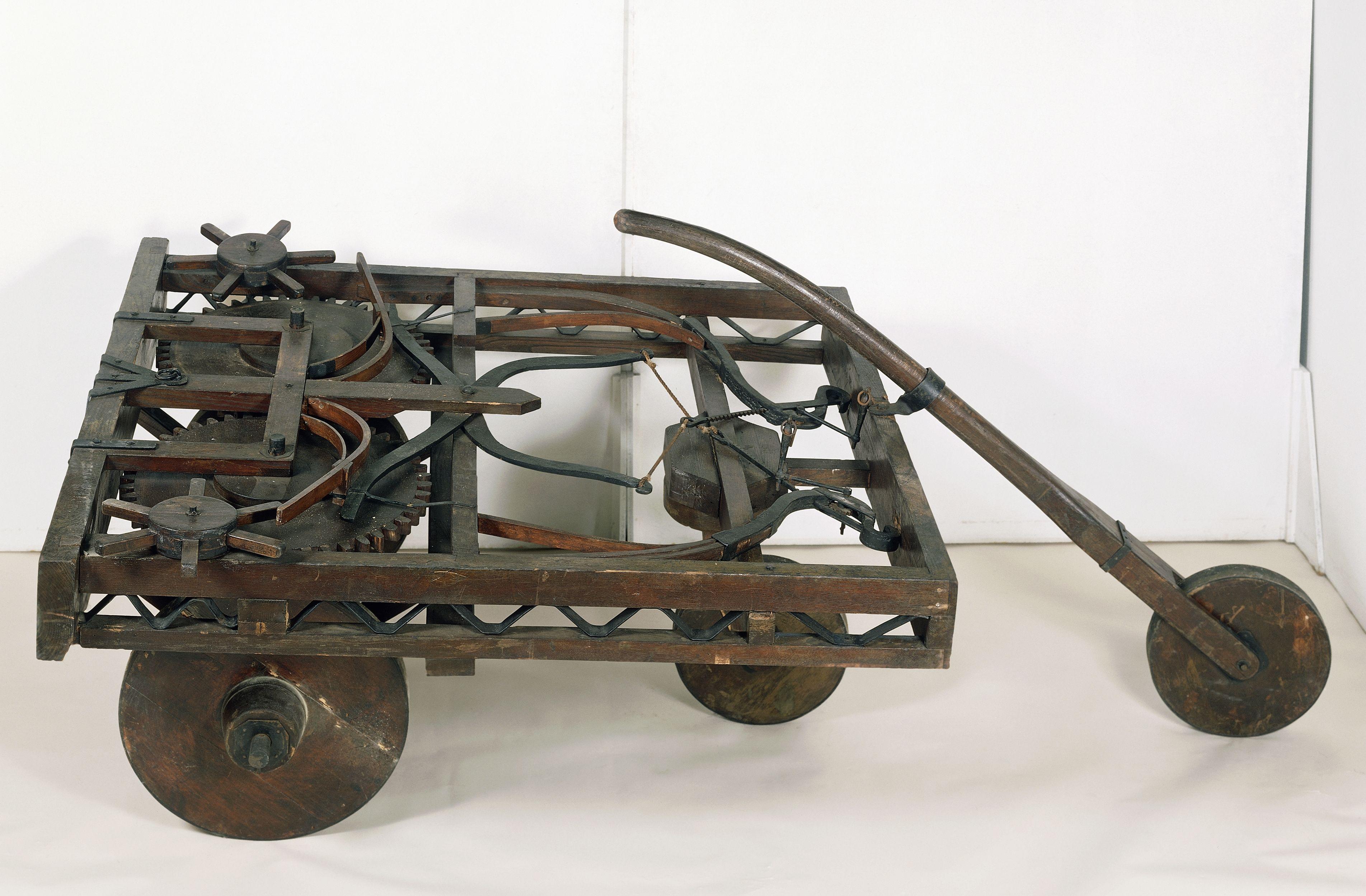 Model of self-propelled cart...