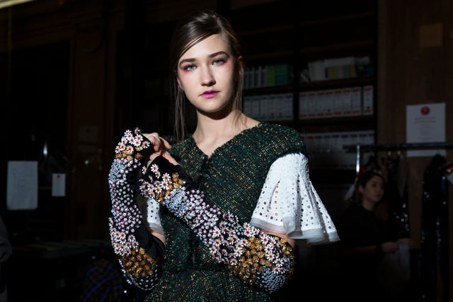 talbot runhof   backstage   paris fashion week womenswear fallwinter 20182019