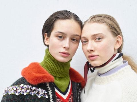 Moncler Gamme Rouge: Backstage - Paris Fashion Week Womenswear Fall/Winter 2017/2018